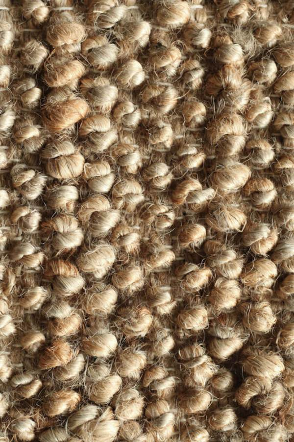 Natural Loop Hemp Rug closeup