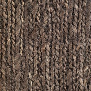 Black Braid Hemp Rug closeup