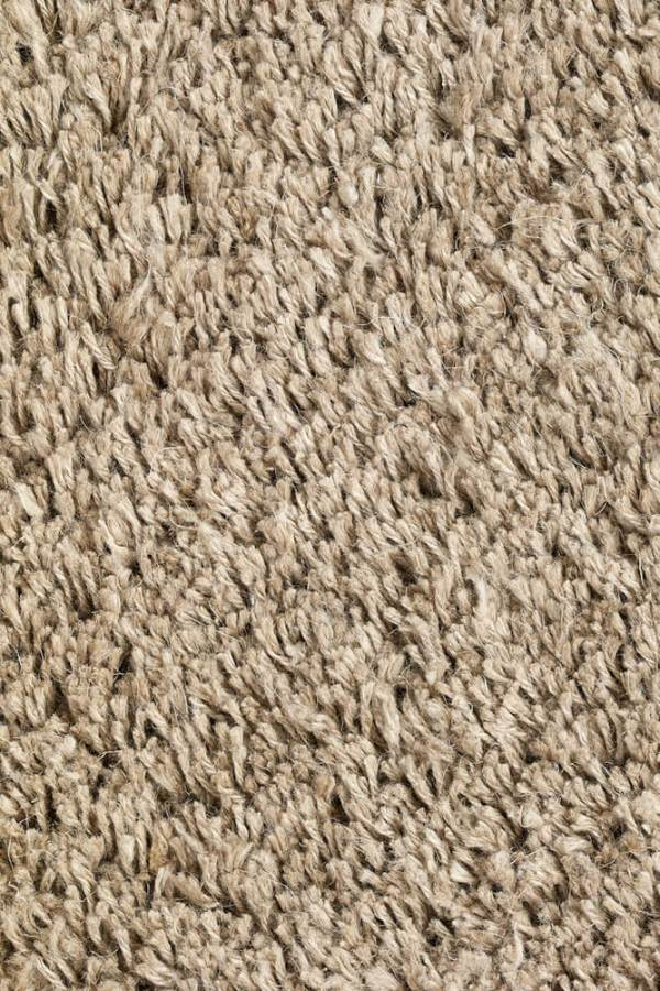 Natural Long Pile Linen Rug closeup