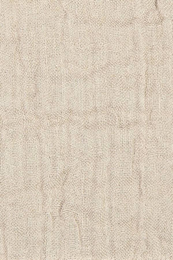 Natural Linen Throw closeup