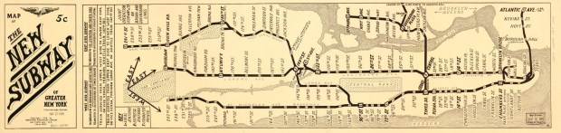 New York Subway Map, CIrca 1918, Library of Congress