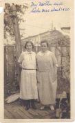 Mae and Anna Thomas, circa 1920, probably in Brooklyn