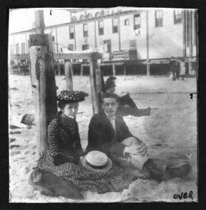 Anna Noteboom and Francis Thomas at Rockaway Beach