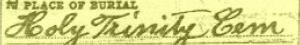 Xaver Schillinger Death Certificate Annotation 8
