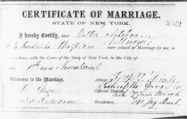 47 - Walter Noteboom marriage certificate to Beta Nullmeyer - 1