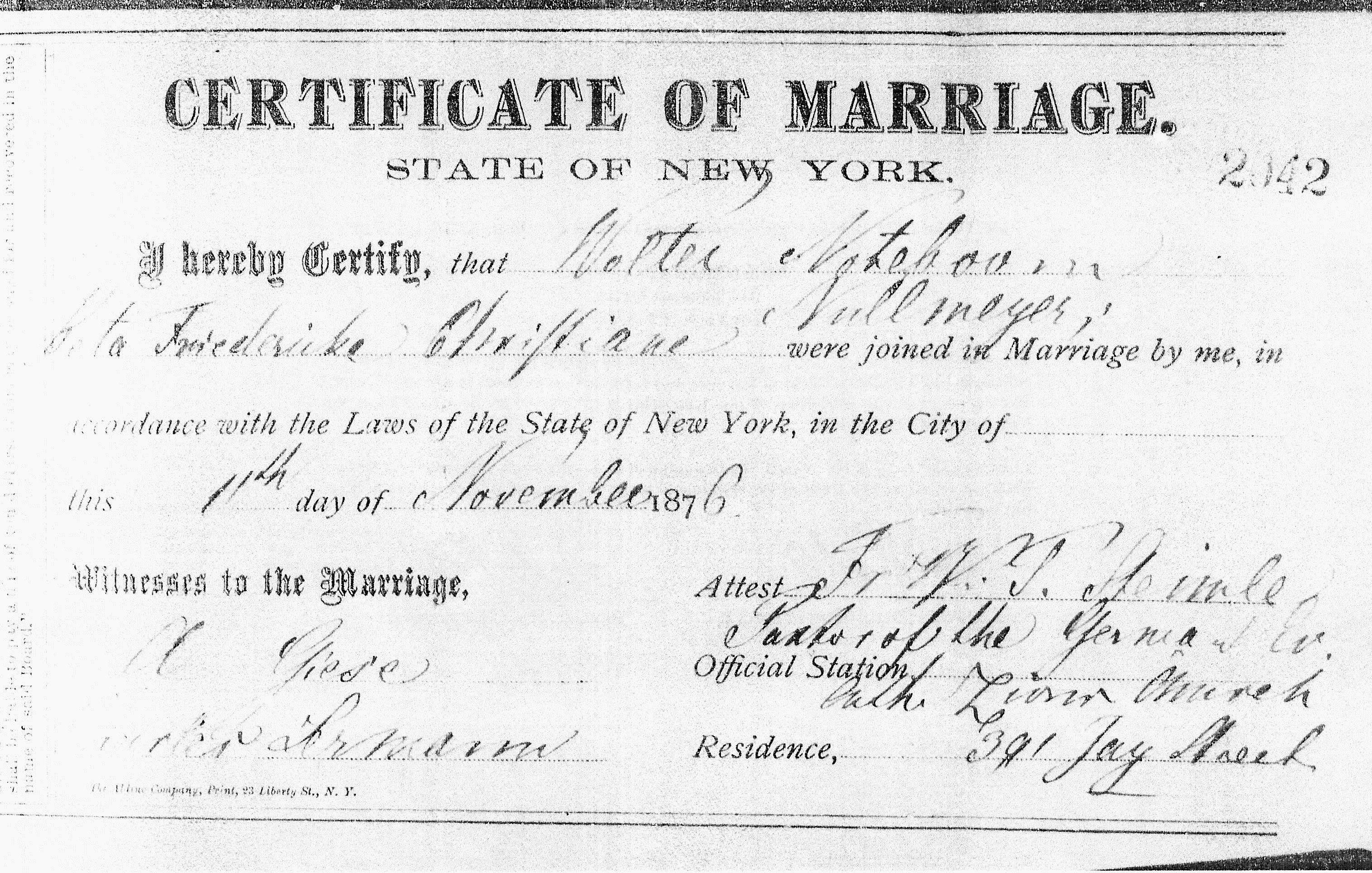 Marriage Certificates of Walter Noteboom | Roots of Kinship