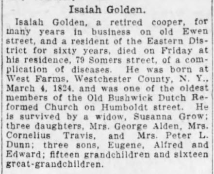 Isaiah Golden - Obituary