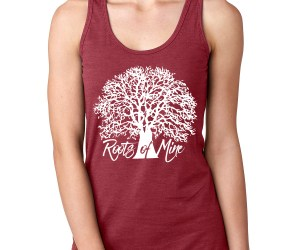 Roots of Mine Womens Tank Scarlet Red