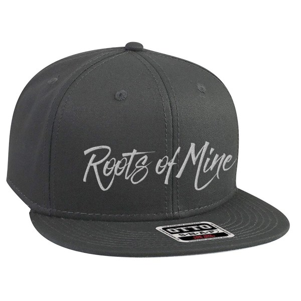 Roots of Mine White on Grey Snapback Hat
