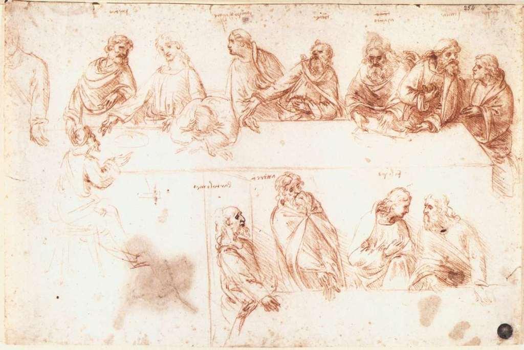 Study for the Last Supper, Leonardo da Vinci, 1494–5