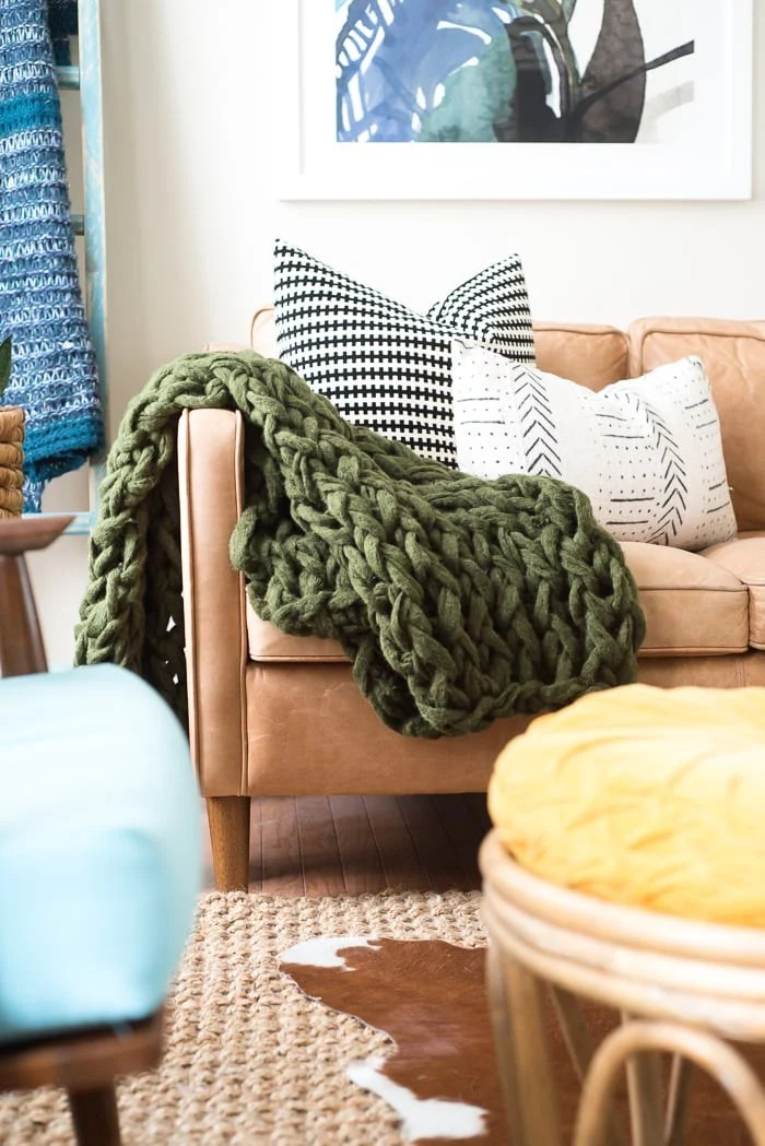 ARM KNIT BLANKET: HOW TO MAKE USING CHUNKY YARN