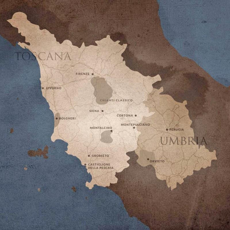 Mapa Marchesi Antinori