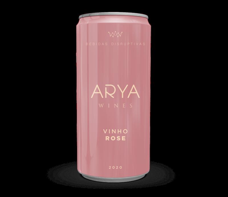 Kit 6 Vinhos Arya Wines Rosé Lata