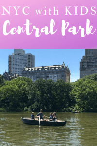 Central Park NYC kids boat