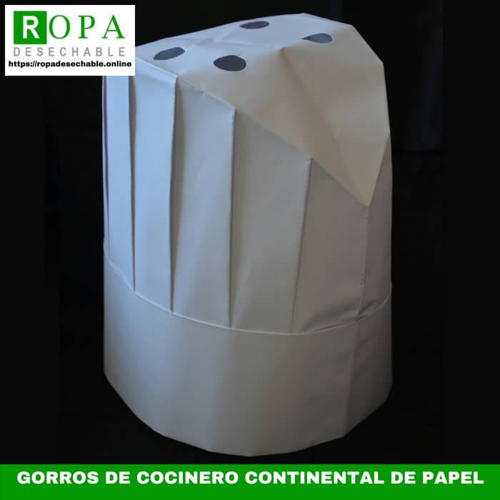 Gorros de cocinero continental de papel