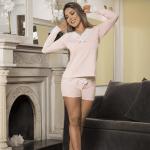 pijama-tres-piezas-rosa-encaje-mujer
