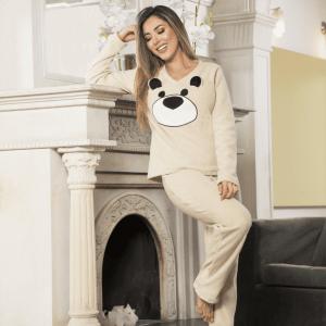 pijama-beige-oso-mujer