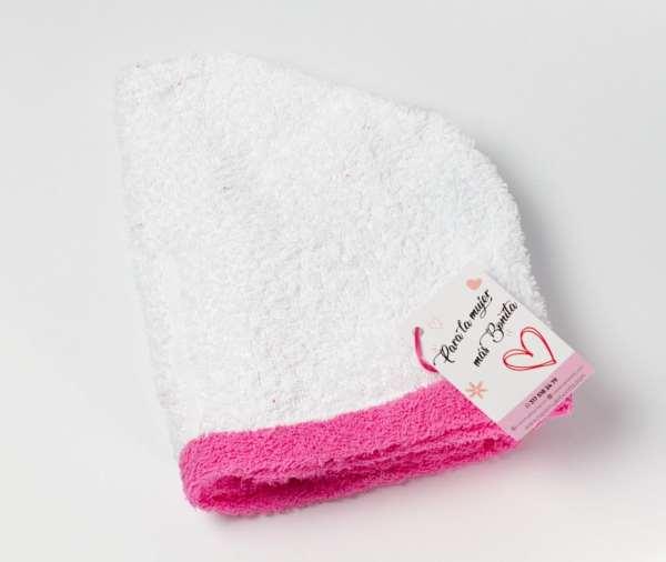 Toalla-cabello-absorción-normal-blanco-rosa