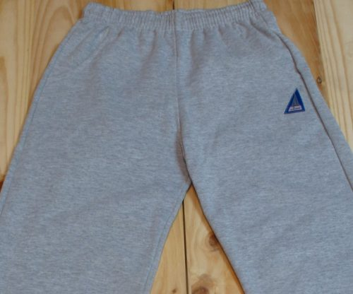 pantalon de chandal algodon felpa gris claro