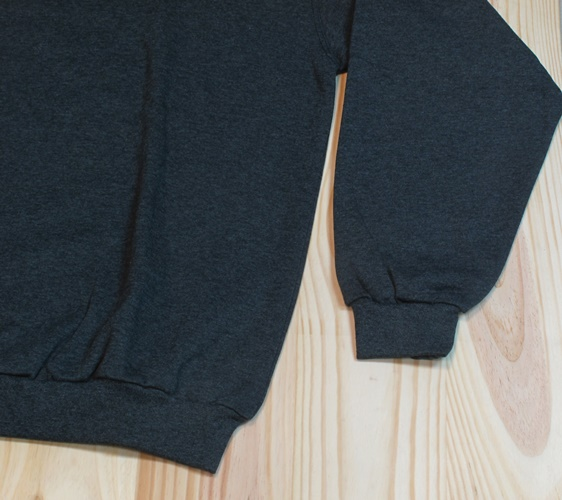 sudadera algodon felpa gris oscuro detalle