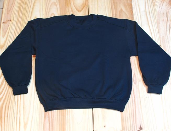 sudadera algodon felpa azul marino