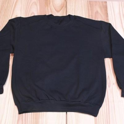 sudadera algodon felpa color negro