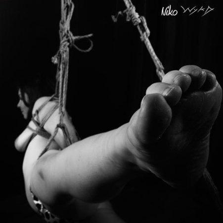 Partial suspension bondage (Model hay, Photographer clover)