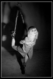 Partial suspension. Halo Haynes, Shibari by WykD Dave. Image by Jonny Blaze.