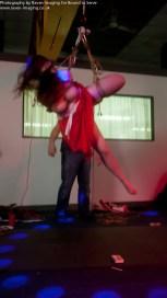 Spinning in harsh suspension bondage.