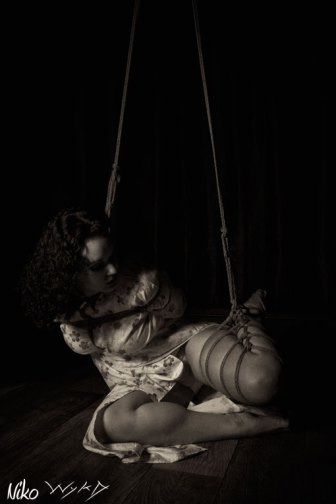 Molly Dolly off balance shibari bondage