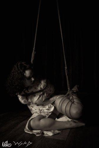 Molly Dolly off balance shibari bondage