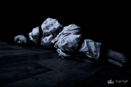 Molly Dolly floor bound in Shibari Bondage
