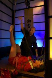 Shibari rope bondage preformance