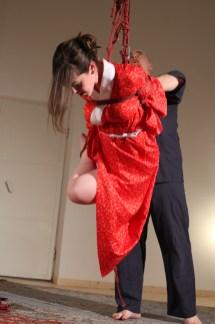 Shibari Day Rome 2013 Shibari performance with Clover