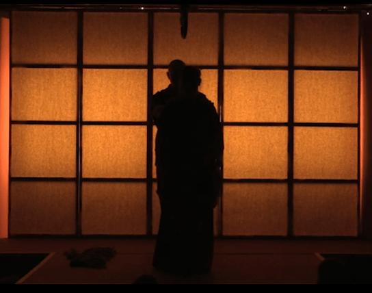 Shibari performance at the London Festival of the art of Japanese rope bondaged.