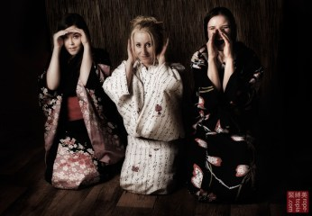 Three naughty girls to be tied