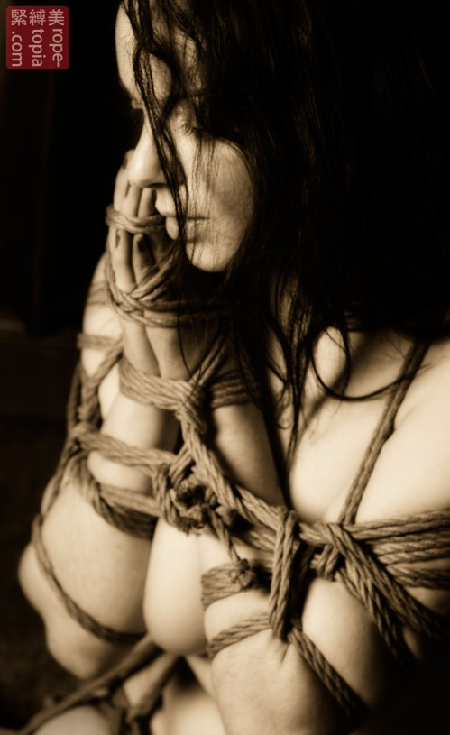 Japanese rope bondage with Beauvoir.