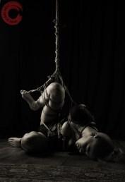 Shibari bondage partial suspension semi nawa, torture rope