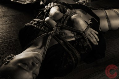 Jaia (self embracing) shibari