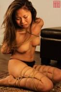 Asian Bella. Tears in rope, futomomo. Takatekoto