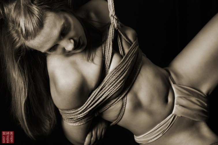 Close up shibari suspension