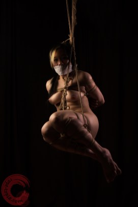 Looking at you looking at me, shibari suspension