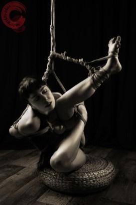 Twisted shibari partial suspension