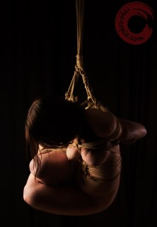 Tight suspension bondage.