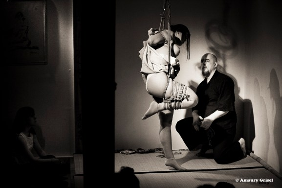 Shibari bondage performance at thePlace des Cordes, Paris WykD Dave and Clover's show. Photos by Amaury Grisel Photographe http://amaury-grisel-shibari.tumblr.com/