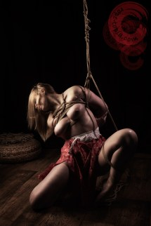 Alice in her first Shibari tie