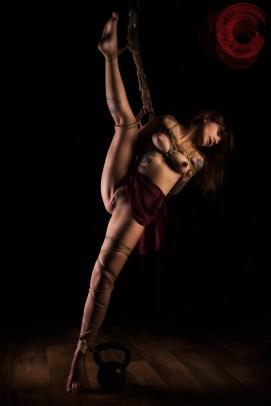 Shibari, bondage, suspension, kettlebell, harsh, torture