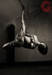 Strenuous shibari side suspension