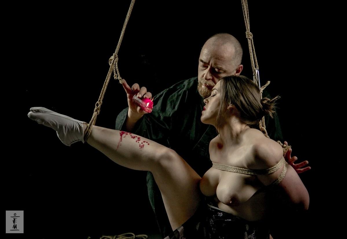 Japanese rope bondage hot
