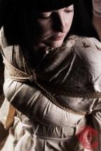 Belle Morte. Contemplateion as the bondage begins. Kimono, takatekote